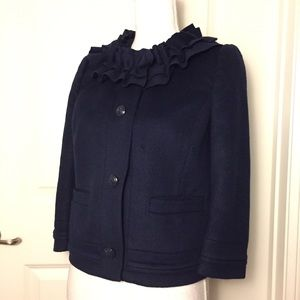 Juicy Couture Jackets & Coats - Juicy Couture Ruffle Neck Wool Blend Jacket Sz S